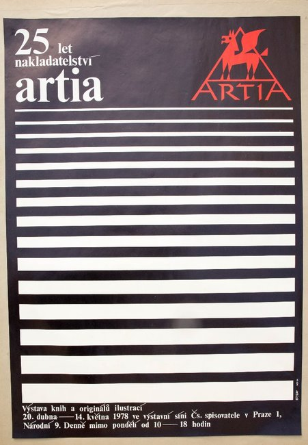 Poster - 25 years of publishing house Artia