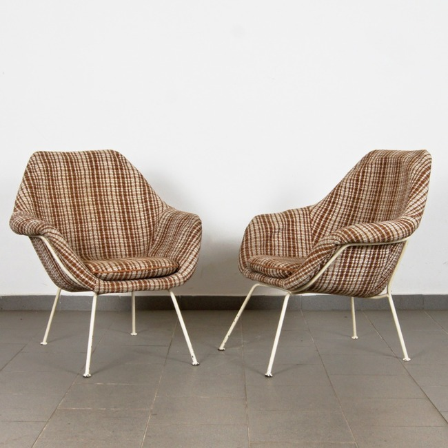 Shell armchairs - pair