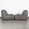 Leatherette armchairs - pair obrazek