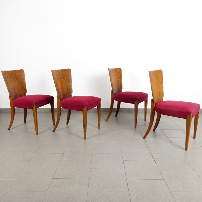 Chairs - Jindřich Halabala (4 pieces)