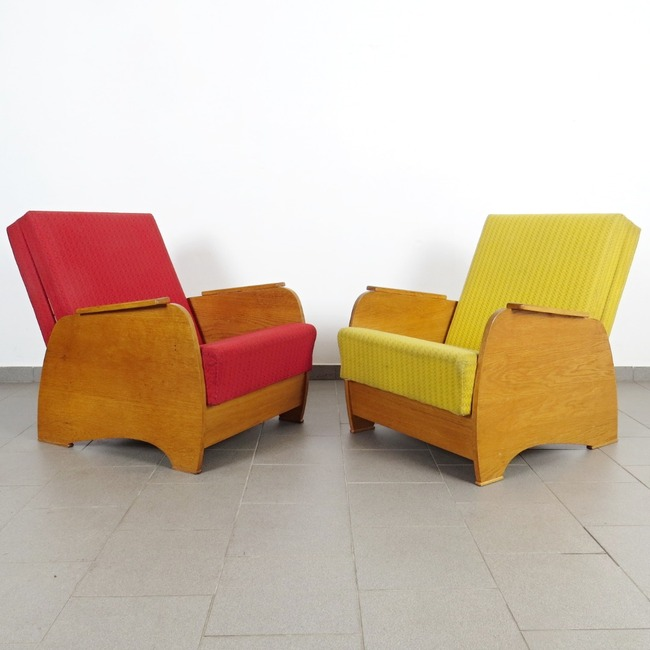 Convertible armchairs - pair